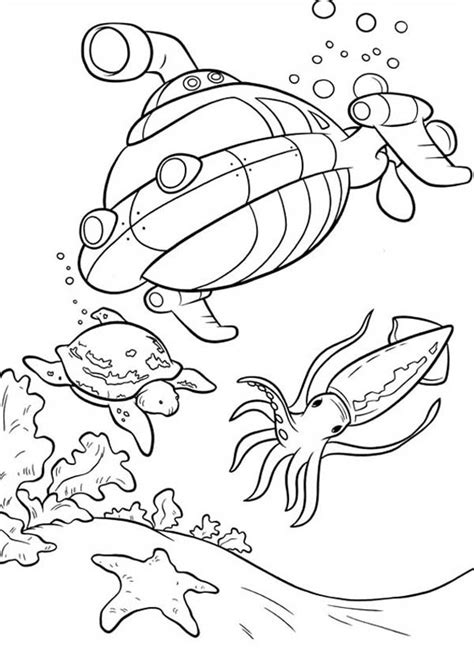 sea floor coloring template coloring pages