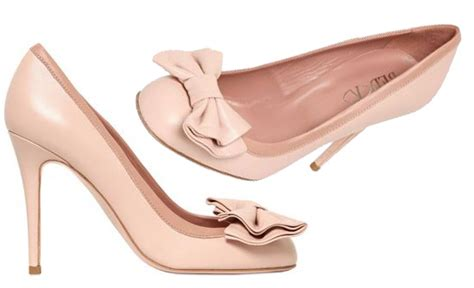 valentino pale pink bow pumps gt