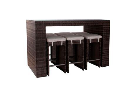 salon de jardin resine table haute qaland
