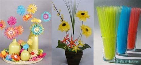 kerajinan tangan  sedotan berbentuk bunga
