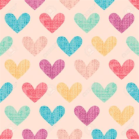 Vintage Heart Pattern | 30 distressed patterns textures backgrounds images