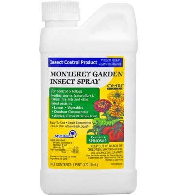 garden insect spray spinosad  monterey planet natural