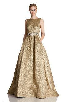 Brocade Cape Longdress theia sleeve moirre gown district 5 mob