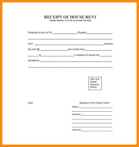 receipt template india format rent receipt kinoroom club
