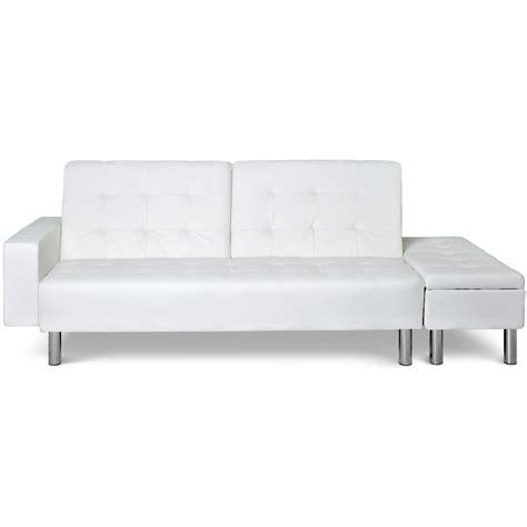 canapé lit banquette canap 233 lit avec banquette coffre zeal couleur blanc