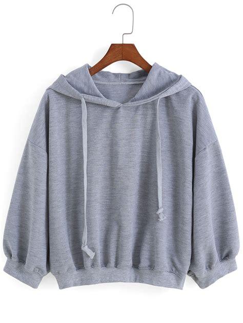 Hoodie Zipper Hair 313 Clothing hooded drawstring grey sweatshirtfor romwe