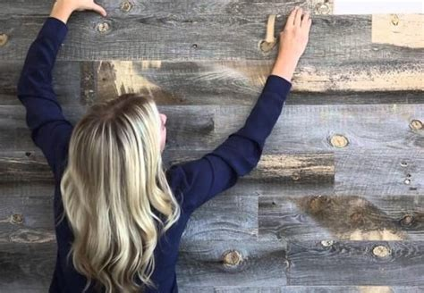 revolutionary solution for walls peel and stick peel and stick wood panelling yes please