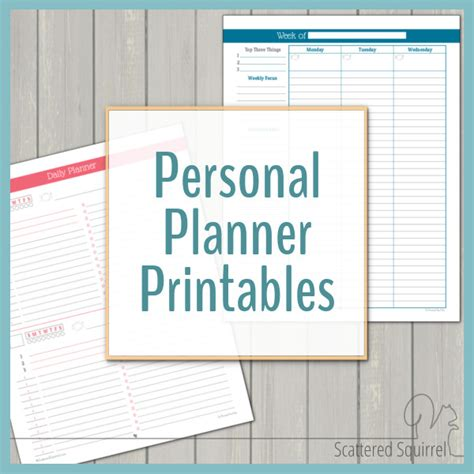 printable life planner 2016 free printables scattered squirrel