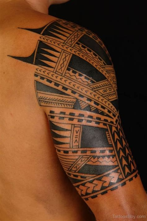 half tribal sleeve tattoos tribal tattoos designs pictures page 28