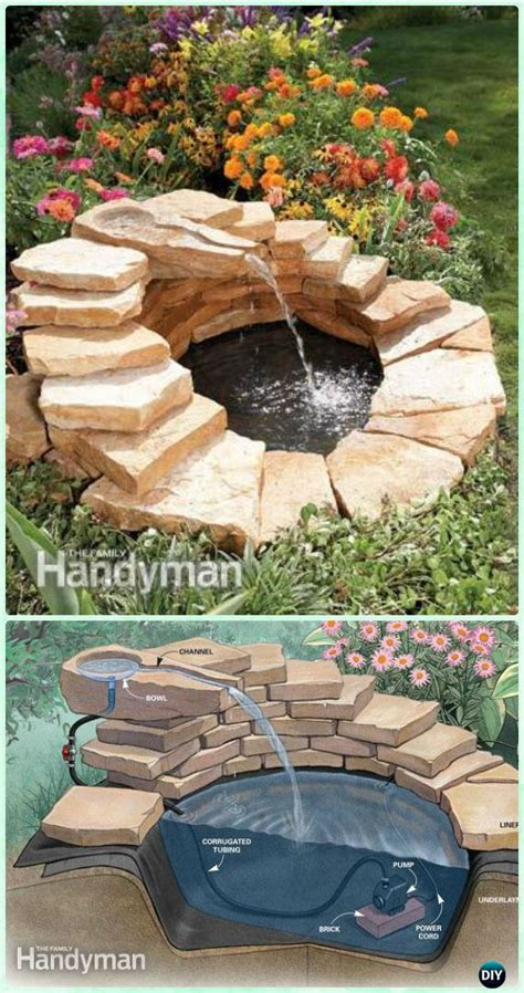 Diy Design Outdoor Fountains Ideas Diy Garden Landscaping Ideas Projects With