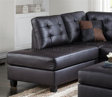 leather sofa and ottoman set f6855 sectional sofa and ottoman set in espresso faux leather