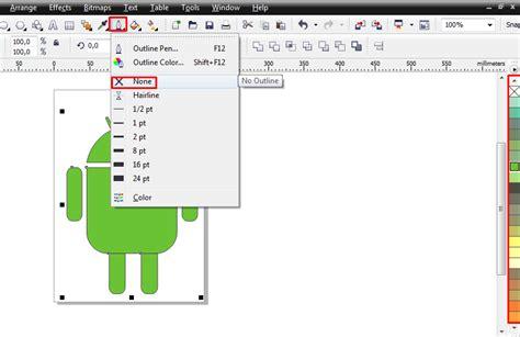 membuat watermark di coreldraw membuat logo android di coreldraw x4 tutorial desain grafis