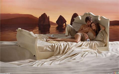 sexy couple in bed romantic coffee in bed wallpaper 19574 open walls