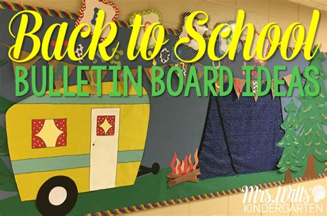kindergarten themes for back to school back to school bulletin boards mrs wills kindergarten