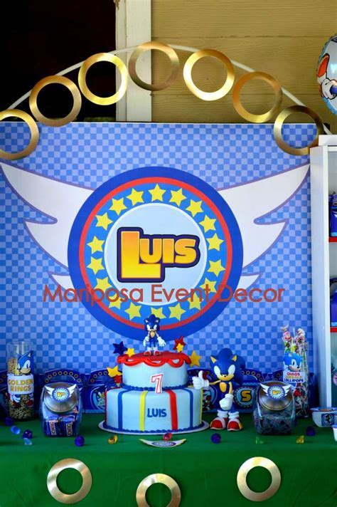 Sonic the Hedgehog Birthday Party Ideas   Photo 9 of 26