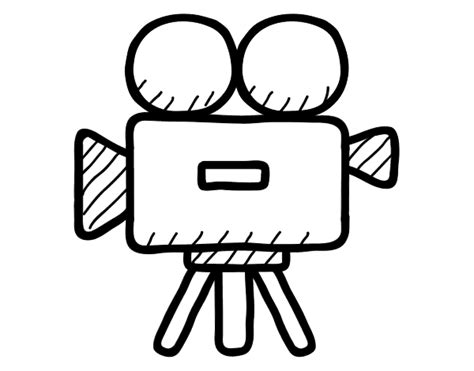 Video Camera Coloring Page | free coloring pages of camera