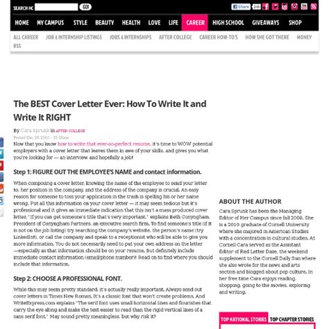 best cover letter tips images frompo