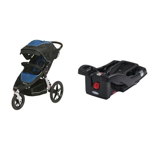 and black infant car seat and stroller graco relay click connect stroller and snugride click