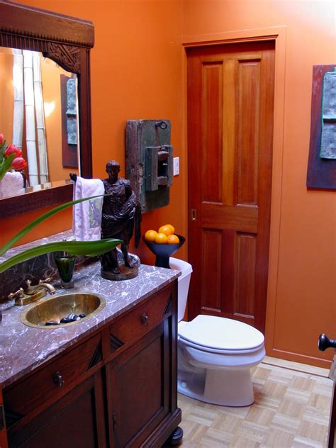 orange bathrooms orange design ideas color palette and schemes for rooms in your home hgtv