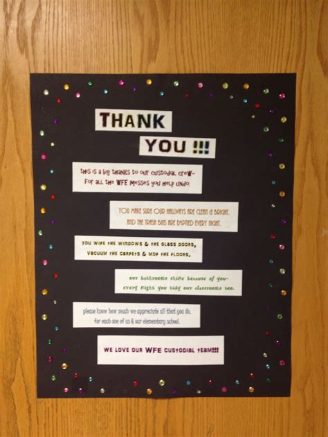appreciation letter to janitor 31 best images about custodian appreciation on