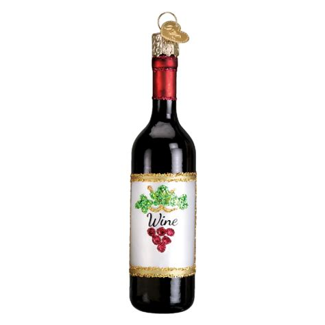 old world christmas ornaments food red wine bottle glass