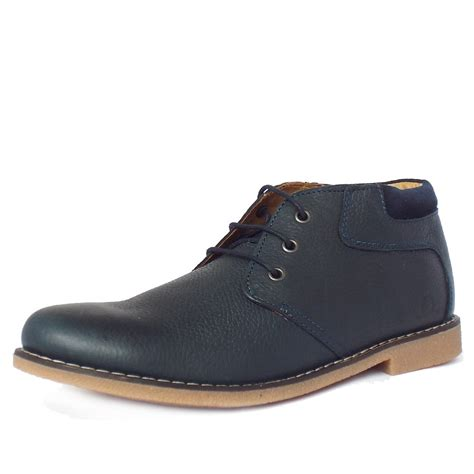 blue leather boots chatham marine tor s desert boots in navy leather
