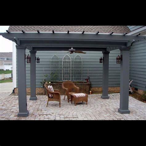 Square Fiberglass Outdoor Pergola Kit Column Centers 12 12 X 12 Pergola