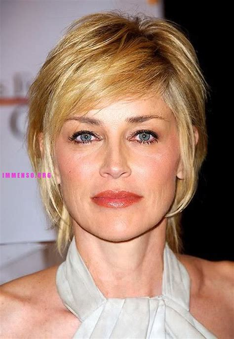 hairstyles for age 48 foto belle donne mature foto sharon stone 51 anni