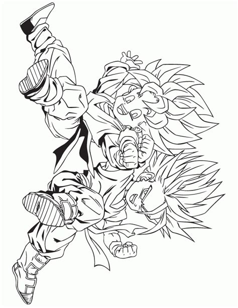 dragon ball z fusion coloring pages cooler coloring pages coloring home