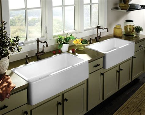 Kitchens With Farm Sinks All About Farmhouse Kitchen Sinks Sink Spotlight The Kitchn