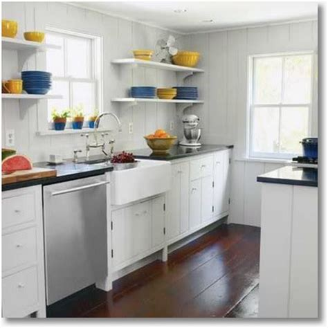 small kitchen open shelving design tips to make a small kitchen live large designdate