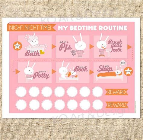 printable toddler bedtime routine chart printable bedtime routine chart for girls toddlers kids