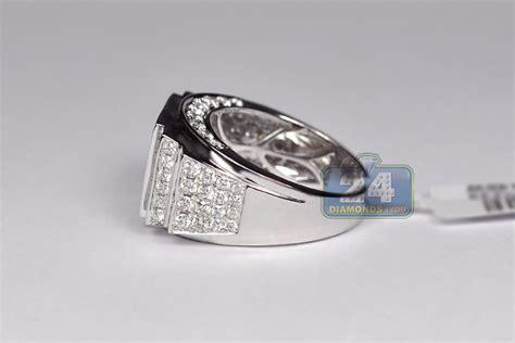 14k white gold 3 23 ct mens ring