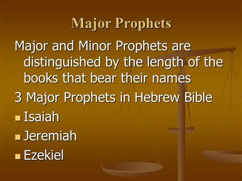 isaiah s a novel of prophets and books latter prophets the major and minor prophets ppt