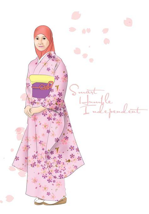 Baju Muslimah Vector muslimah around the world project japan by hamzahinsancita on deviantart