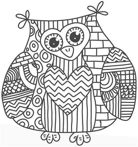 coloring page hard work too hard owl coloring page 01 pinteres