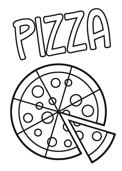 pizza coloring pages preschool pizza coloring pages kids printable enjoy coloring