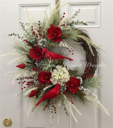wreath decorations christmas wreath cardinal wreath elegant christmas wreath