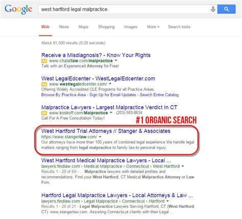 Malpractice Search Lawyer Seo Study Stangerlaw Juris Digital