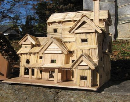 toothpick house 54 best precise toothpick art images on pinterest