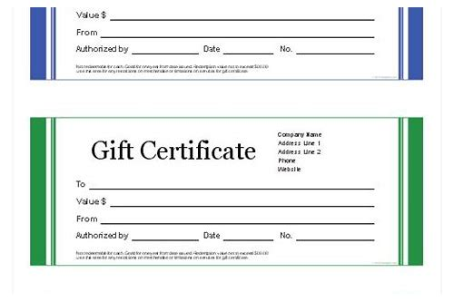 fill in the blank gift coupons