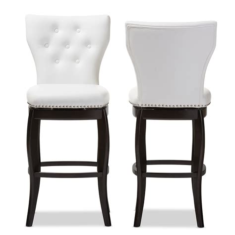 white counter height swivel chairs baxton studio wholesale bar stools wholesale bar