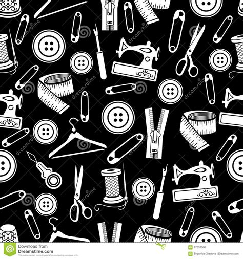 wallpaper design tool sewing tools seamless pattern vector background white