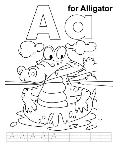 alligator coloring pages preschool alligator color page az coloring pages