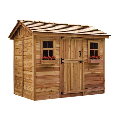 Outdoor Living Garden Shed by Shop Outdoor Living Today Gable Cedar Storage Shed Common