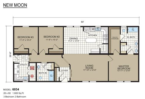 mobile home floor new moon mobile home floor plans