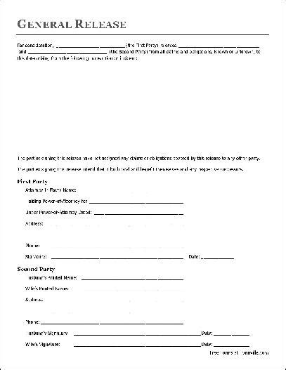 Free General Release Form Template by Free Liability Release Form Beneficialholdings Info