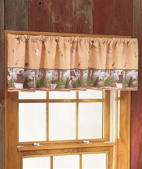 bathroom window valance in the woods whimsical bear moose cabin lodge bathroom