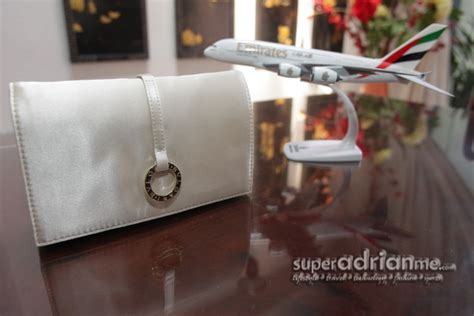 Travel Kit Bvlgari Edition From Emirates Airlines flying emirates business class amenity kits
