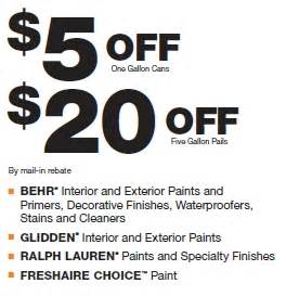 home depot paint coupons home depot paint rebate this weekend only my frugal
